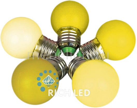 Лампа светодиодная E27 220В 1Вт RL-BL-E27-G45-Y