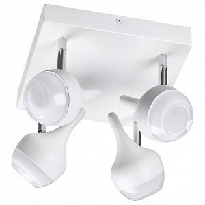 Спот поворотный Jolie, 4 лампы  по 8 Вт., 6.93 м², цвет белый матовый