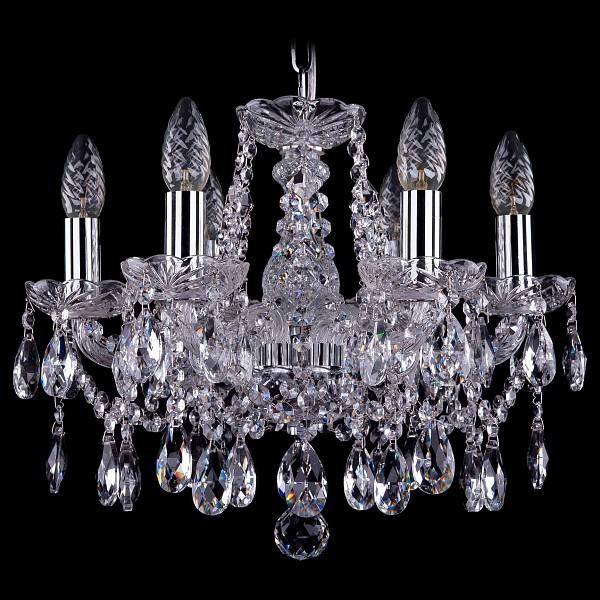 Подвесная люстра 1413/6/141/Ni Bohemia Ivele Crystal  (BI_1413_6_141_Ni), Чехия