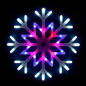 Снежинка световая [40x40 см] ULD-H4040-048/DTA MULTI IP20 SNOWFLAKE
