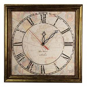 Настенные часы (33.5х33.5 см) Карта-AKI 3434