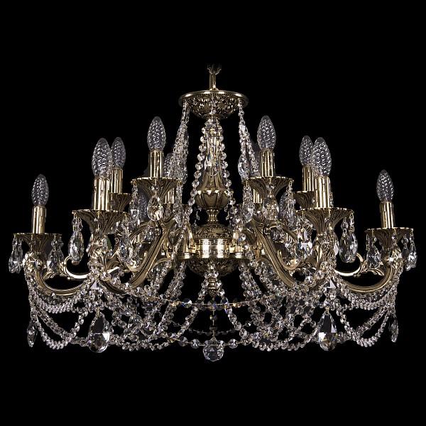 Подвесная люстра 1703/12/320/C/GB Bohemia Ivele Crystal  (BI_1703_12_320_C_GB), Чехия