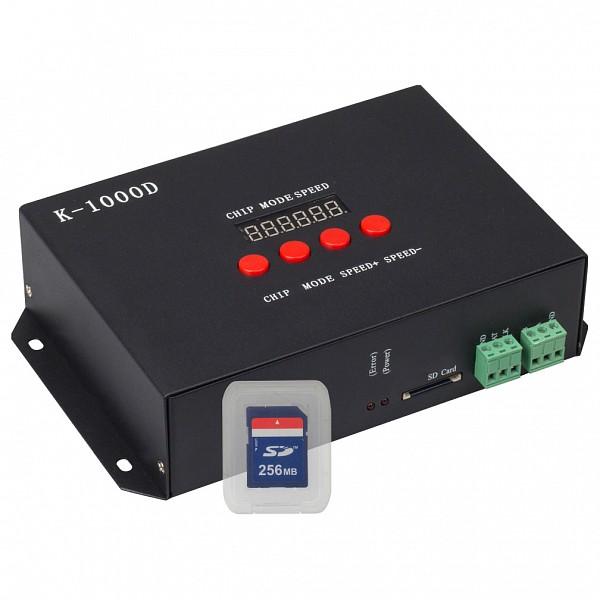 Контроллер-регулятор цвета RGB DMX K-1000D (SD-card, 512 pix)