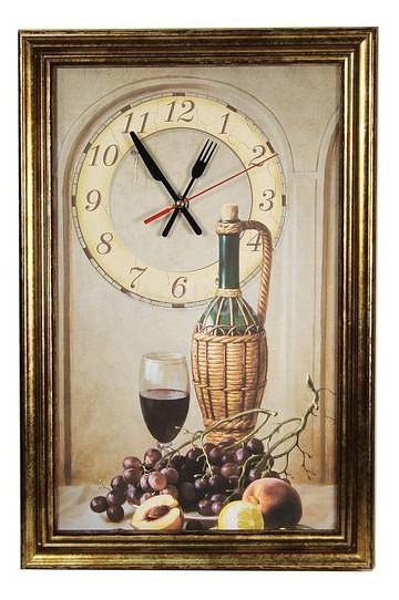 Настенные часы Акита (29.5х45 см) Натюрморт 3045