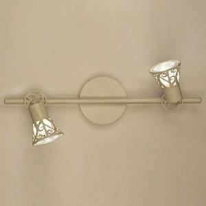Спот поворотный Винон, 2 лампы GU10 по 50 Вт., 5.56 м², цвет кремовый матовый