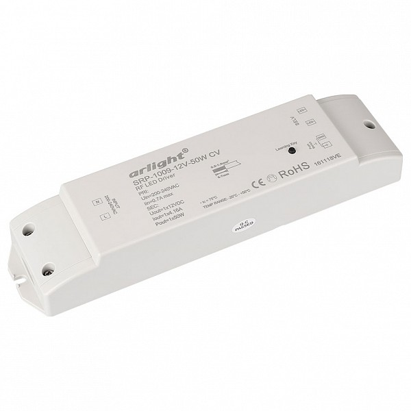 Контроллер-диммер SR-P-1009-12-50W (220V, 12V, 50W)