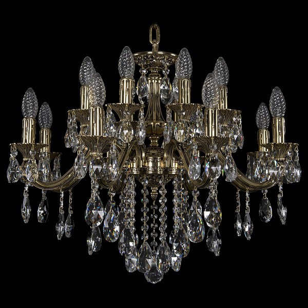 Подвесная люстра 1703/16/225/B/GB Bohemia Ivele Crystal  (BI_1703_16_225_B_GB), Чехия