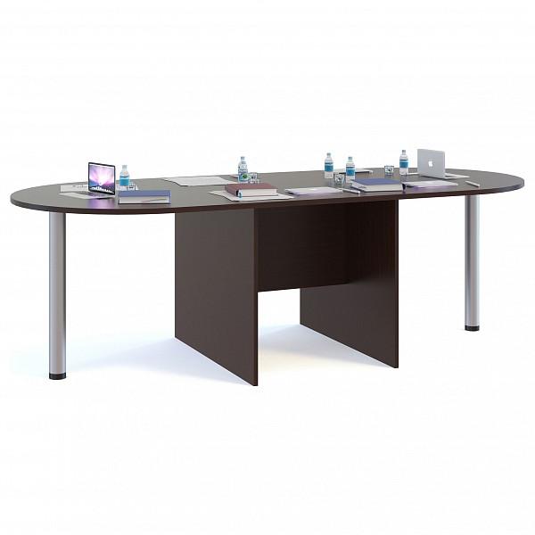Стол для переговоров СПР-05+2 шт. СПР-03 венге фото