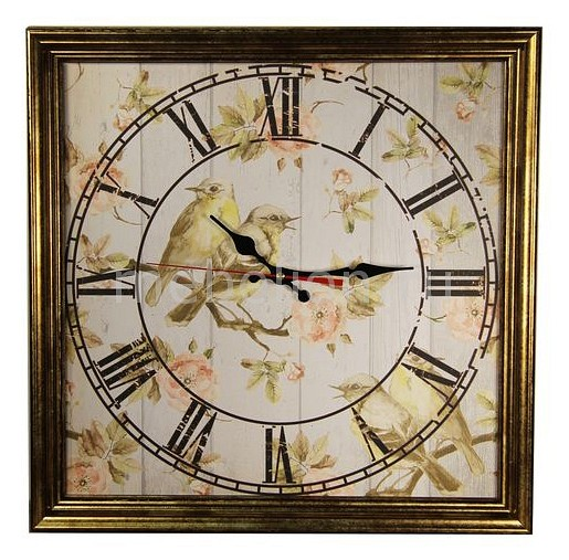 Настенные часы Акита (45х45 см) Птицы 4545 цена и фото