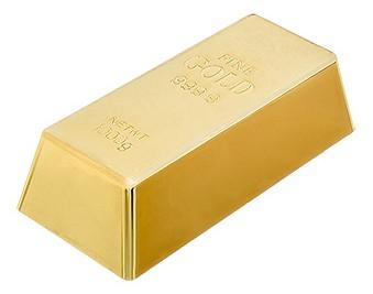 Ограничитель дверной (16.5x8x4.5 см) Золотой слиток 26018