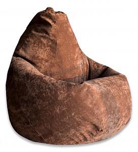 Кресло-мешок Коричневый Микровельвет L