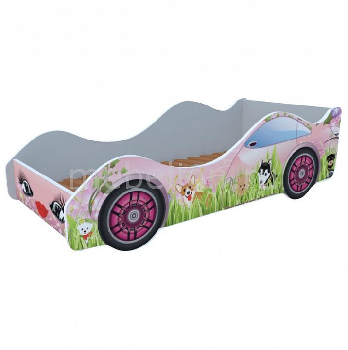 Кровать-машина Собачки на лужайке M063