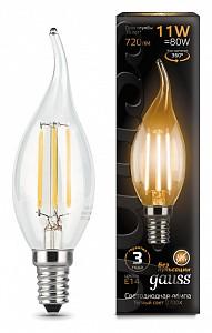 Лампа светодиодная [LED] Gauss E14 11W 2700K