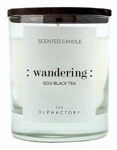 Свеча ароматическая (9.8 см) The Olphactory WANDERING Black Ягоды годжи VV401GJBTO