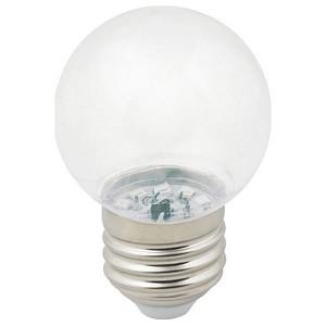 Лампа светодиодная Sky E27 220-240В 1Вт 3000K LED-G45-1W/3000K/E27/CL/С