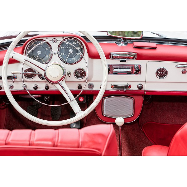 Картина (60х40 см) Руль красной машины HE-101-798 фото