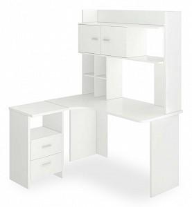 Угловой компьютерный стол Нельсон Lite MER_SKL-Ugl130-NKLH-130_BE_LEV