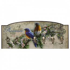 Вешалка настенная Райские птички S23
