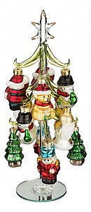 Ель новогодняя с елочными игрушками (25 см) ART 594-049