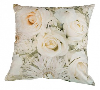Подушка декоративная (45х45 см) Цветы 703-694-37