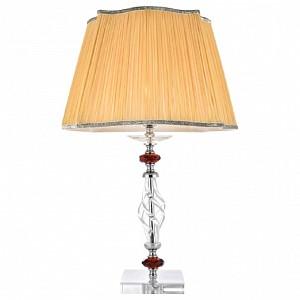 Настольная лампа декоративная 1 CATARINA LG1 GOLD/TRANSPARENT-COGNAC