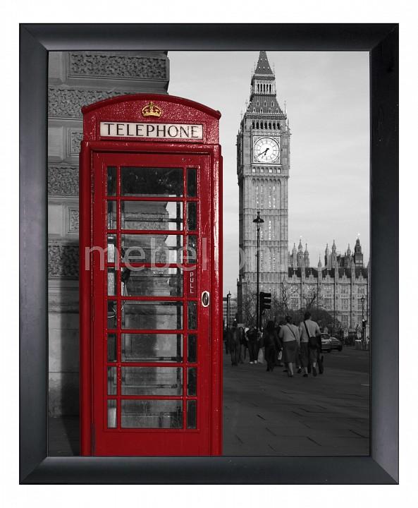 Панно Ekoramka (40х50 см) Телефонная будка 1721137 сувенир шкатулка телефонная будка 11 8 4см металлическая 12 07285 km 8