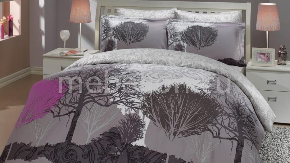 Купить Комплект евростандарт INFINITY, HOBBY Home Collection, лиловый, серый, хлопок 100%