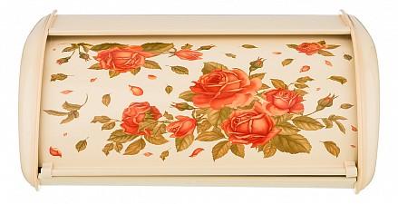 Хлебница (35.5x23x14.5 см) Корейская роза 938-055