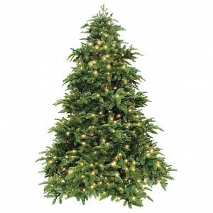 Ель новогодняя [2.6 м] Нормандия с лампами темно-зеленый 73697