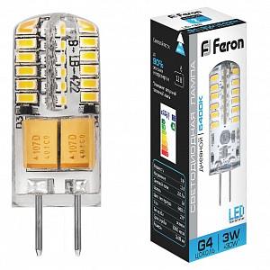 Лампа светодиодная [LED] Feron G4 3W 6400K