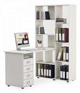 Угловой компьютерный стол Оксфорд-2 MAS_KSOK-2-BEL