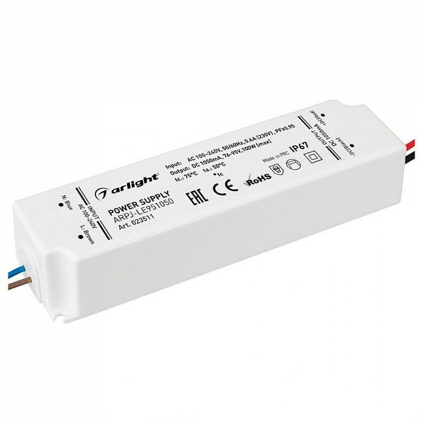 Блок питания 76-95В 100Вт ARPJ-LE951050 (100W, 1050mA, PFC) ARLT_023511