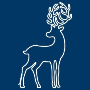 Зверь световой (1.8x1.1 м) Сказочный олень 501-315