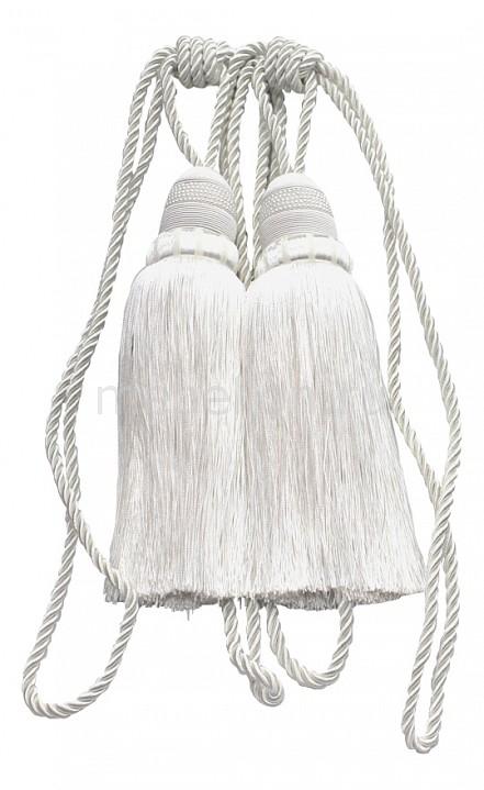 Купить Подхваты для штор, Набор из 2 подхватов для штор (50 см) Кисти Ajur, TexRepublic, белый, полиэстер 100%