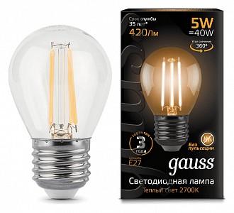 Лампа светодиодная LED Filament E27 150-265В 5Вт 2700K 105802105