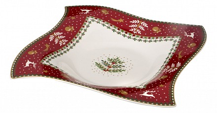 Блюдо декоративное (26х26х4 см) Christmas Collection 586-293