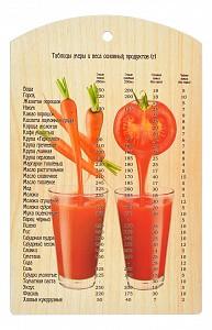 Доска разделочная (29x18.5x7 см) Овощной коктейль 17038
