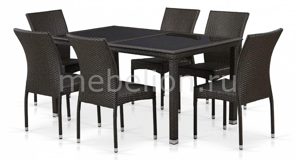 Набор уличный Afina T246A/Y380A-W53 Brown 6Pcs комплект мебели из ротанга афина мебель t282bnt w53 y90c w51 2pcs