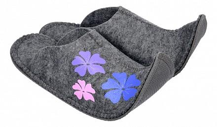 Тапочки для бани женские Цветы