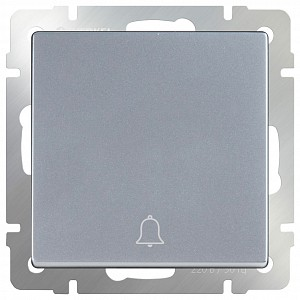 Кнопка звонка без рамки Серебряный WL06-04-01