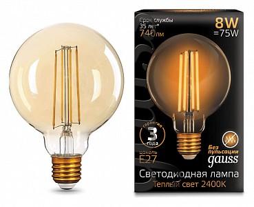 Лампа светодиодная [LED] Gauss E27 8W 2400K
