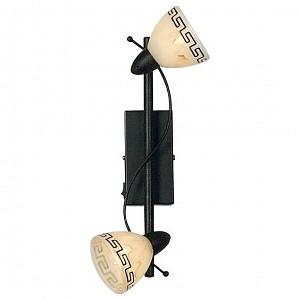 Спот поворотный Roma, 2 лампы G9 по 40 Вт., 4.44 м², цвет бежевый с коричневым орнаментом матовый