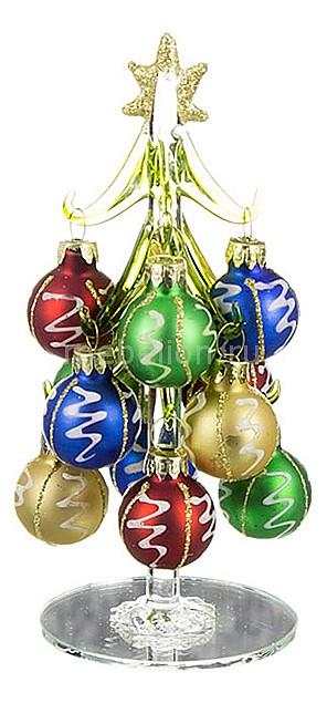 Фото Ель новогодняя с елочными шарами АРТИ-М (15 см) ART 594-045