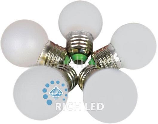 Лампа светодиодная E27 220В 1Вт RL-BL-E27-G45-W
