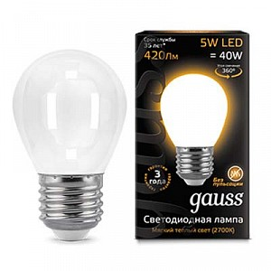 Лампа светодиодная 1052 E27 150-265В 5Вт 2700K 105202105