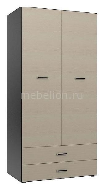 Шкаф платяной Пассаж СБ-925 дуб феррара/дуб кремона