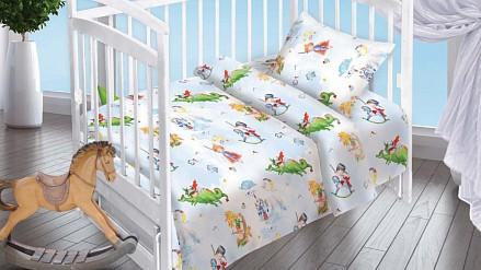Детский комплект постельного белья Отважный герой  наволочка 40х60