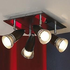 Спот поворотный Furnari, 4 лампы E14 по 40 Вт., 6.3 м², цвет хром глянцевый