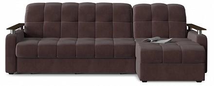 Угловой диван Денвер коричневый