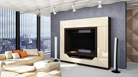 Стенка для гостиной Призма МН-023-01